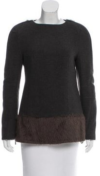 CNC Costume National Wool & Alpaca Long Sleeve Top w/ Tags
