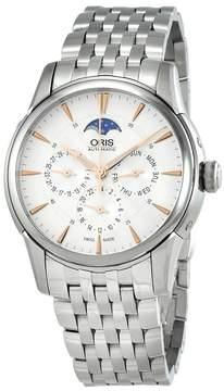 Oris Artelier Automatic Multi-Function Silver Dial Men's Watch 582-7689-4021MB