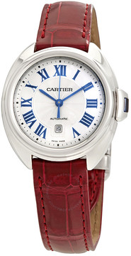 Cartier Cle de Automatic Silvered Dial Ladies Watch
