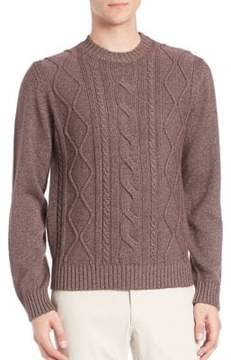 Saks Fifth Avenue COLLECTION Cable-Knit Silk & Cashmere Sweater