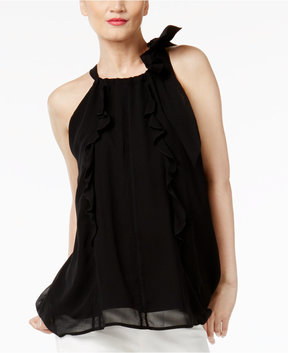Cynthia Rowley Cr By Ruffled Halter Top, Created for Macy's