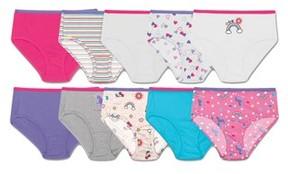 Hanes Girls' Cotton Briefs 9+1 Bonus Pack