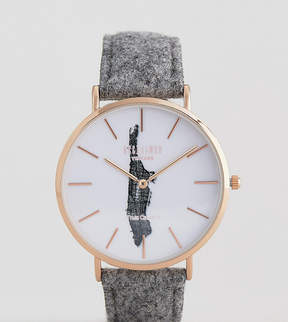 Reclaimed Vintage Inspired Manhattan Wool Watch In Gray Exclusive To ASOS
