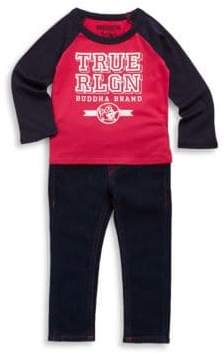 True Religion Baby's Two-Piece Graphic Tee and Jeans Set