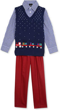 Nautica 3-Pc. Tractor Sweater Vest, Shirt & Pants Set, Toddler Boys (2T-5T)
