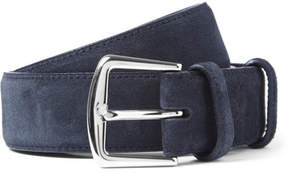 Loro Piana 3.5cm Blue Suede Belt
