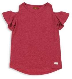 7 For All Mankind Little Girl's & Big Girl's Cotton Tee