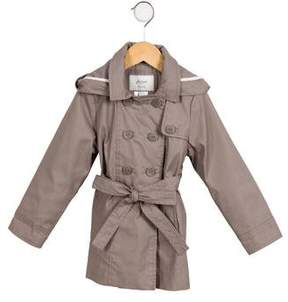 Jacadi Girls' Double-Breasted Trench Coat