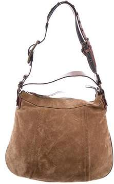 Dolce & Gabbana Leather-Trimmed Suede Hobo