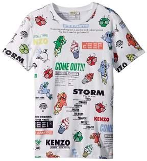 Kenzo Tee Shirt Food Print Boy's Clothing