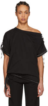 Ann Demeulemeester Black Elmer Off-the-Shoulder T-Shirt