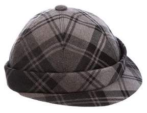 Bottega Veneta Wool Plaid Hat