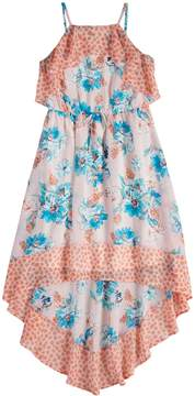 My Michelle Girls 7-16 High-Low Hem Floral Maxi Dress