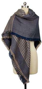 Saachi Unisex Oversized Striped Scarf.