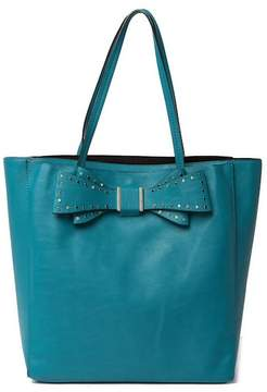 Betsey Johnson Stud Bow Structured Tote