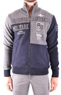 Aeronautica Militare Men's Blue Wool Sweatshirt.