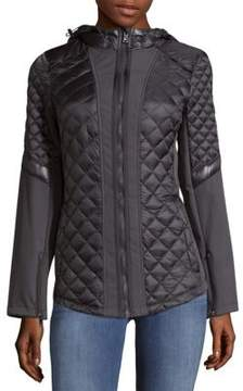1 Madison Quilted Hooded Jacket