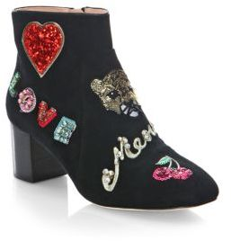 Kate Spade Liverpool Embellished Suede Booties