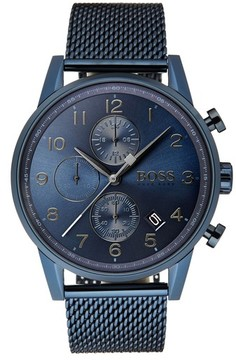 BOSS Men's Navigator Chronograph Mesh Strap Watch, 44Mm