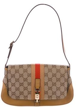 Gucci GG Canvas Shoulder Bag - BROWN - STYLE