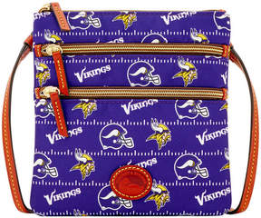 Dooney & Bourke Minnesota Vikings Nylon Triple Zip Crossbody - PURPLE - STYLE