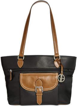 Giani Bernini Pebble Leather Tote, Created for Macy's