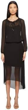 Escada Sport Daluna Long Sleeve Sheer Overlay Dress Women's Dress