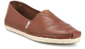 Toms Classics Leather Espadrilles