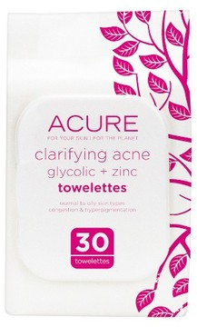 Acure Organics Acure Clarifying Acne Towelettes 30 ct