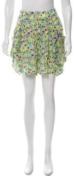 Zucca Floral Print High-Waist Shorts