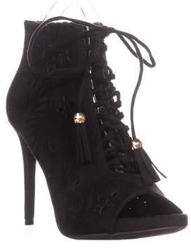 Zigi Soho Artemis Lace Up Peep Toe Heels, Black.