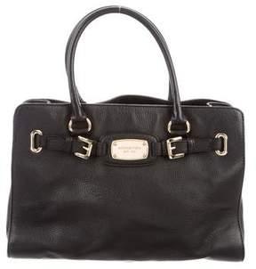 MICHAEL Michael Kors Buckle-Accented Leather Satchel