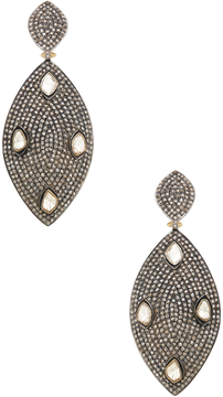 Artisan Women's Silver, 14K Yellow Gold & 10.98 Total Ct. Diamond Marquis Drop Earrings