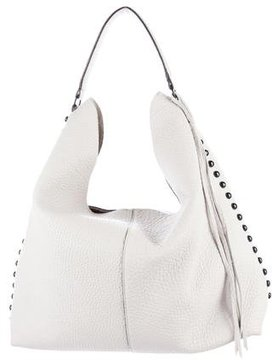 Rebecca Minkoff Studded Leather Hobo - WHITE - STYLE