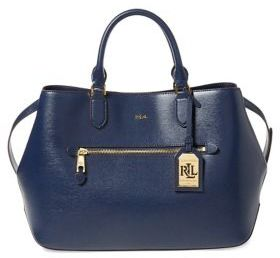 Lauren Ralph Lauren Saffiano Medium Sabine Leather Satchel
