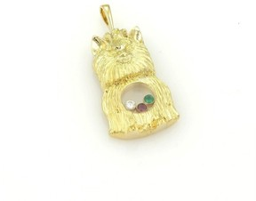 Chopard 18K Yellow Gold Happy Diamond Emerald & Ruby Ihasa Apso Dog Pendant