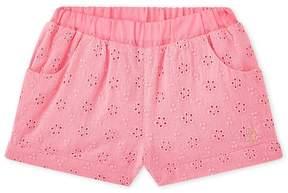 Petit Bateau Baby girl's eyelet shorts