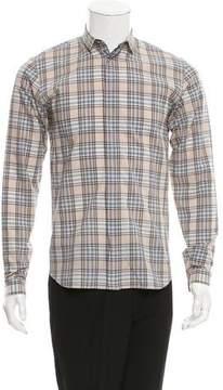 Christian Dior Plaid Button-Up Shirt
