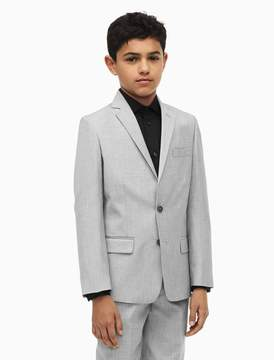Calvin Klein boys stretch slub suit jacket