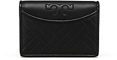 Tory Burch Alexa Foldable Mini Wallet - BLACK - STYLE
