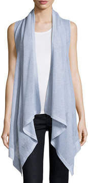 Neiman Marcus Superfine Cashmere Mesh Hooded Vest