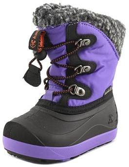 Kamik Dashaway Toddler Round Toe Canvas Purple Snow Boot.
