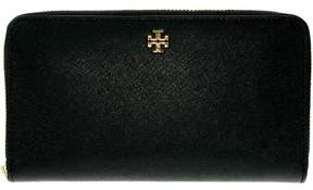 Tory Burch Robinson Continental Zip Wallet - BLACK - STYLE