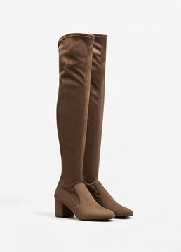 MANGO Over the knee heel boots