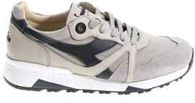 Diadora Heritage Men's Grey Synthetic Fibers Sneakers.