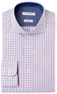 Isaac Mizrahi Checkered Slim Fit Dress Shirt