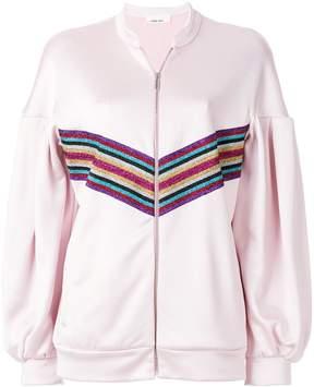 Circus Hotel rainbow stripe oversized sports jacket