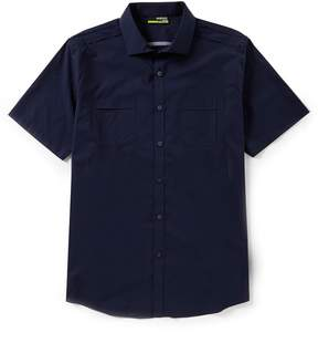 Murano Slim-Fit Solid Performance Short-Sleeve Woven Shirt