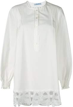 Blumarine embroidered bow detail blouse