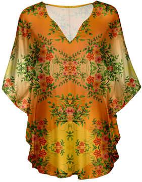 Lily Orange Floral V-Neck Tunic - Women & Plus